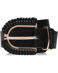 Biba Woven Buckle Belt - Black