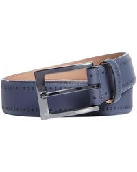 Ted Baker - Havan Rubber Leather Brogue Belt - Lyst