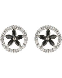 Mikey | Oval Cubic Marqise Stud Earring | Lyst