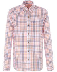 Gibson - Navy And Orange Check Shirt - Lyst