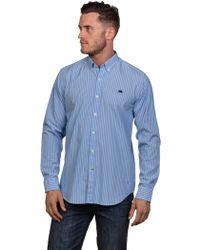 Raging Bull - Men's Big And Tall Stripe Poplin Shirt - Lyst