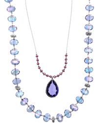 Lonna & Lilly - Two Row Nested Pendant Necklace - Lyst
