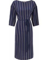 Jaeger - Colour Block Stripe Print Dress - Lyst