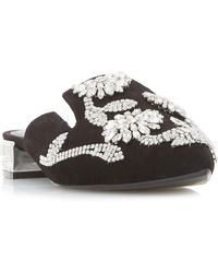 Dune - Cathlene Beaded Backless Point Toe Court Shoes - Lyst