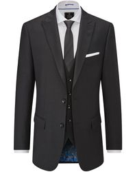 Skopes Astor Wool Suit Trouser - Black