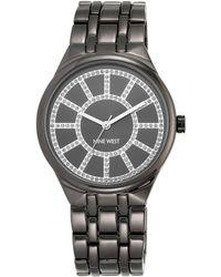 Nine West - Grey Bracelet Grey Dial Silver Watch - Lyst