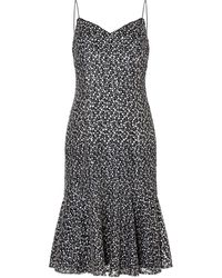 Adrianna Papell Embrodiered Sequin Dress - Multicolour