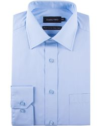 Double Two - Plain Poplin 100% Cotton Shirt - Lyst