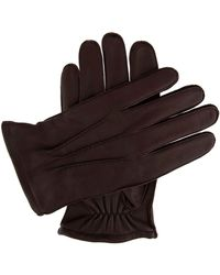 Dents - Men`s Leather Glove With Warm Lining - Lyst
