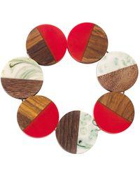 White Stuff - Wood Circle Bracelet - Lyst