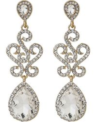 Mikey - Twisted Filigree Oval Drop Earring - Lyst