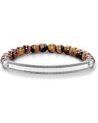 Thomas Sabo - Love Bridge Black Zirconia Bracelet - Lyst