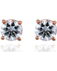 Anne Klein - Crystal Stud Earrings - Lyst
