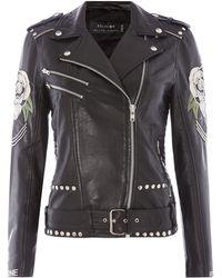 Religion Blush Biker Jacket - Black