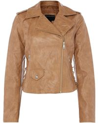 Bernardo - Motor Jacket With Lace Up Panel - Lyst