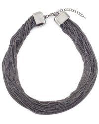 James Lakeland - 16 Row Mesh Necklace - Lyst