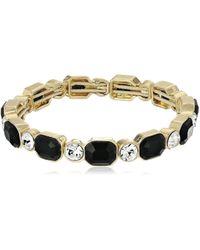 Anne Klein - Gold/jet Bracelet - Lyst