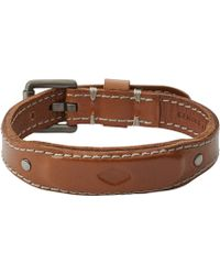Fossil - Jf02349001 Mens Leather Bracelet - Lyst