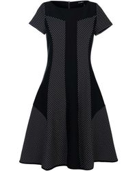 DKNY Boat Neck Straight Dress - Black