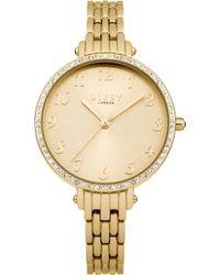 Lipsy - Ladies Gold Tone Bracelet Watch - Lyst