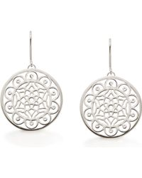 OAK | Dream Big Dreamcatcher Silver Earrings | Lyst