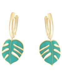 OAK | Monsoon Palm Leaf Hoop Earrings | Lyst