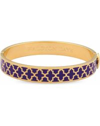 Halcyon Days - 10mm Agama Bangle Royal Purple/gold - Lyst