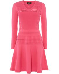 Juicy Couture Ottoman Stitch Knitted Dress - Pink