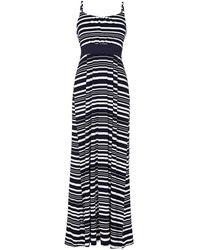 Yumi' - Nautical Stripe Jersey Maxi Dress - Lyst