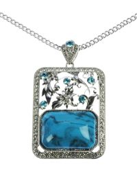 Indulgence Jewellery - Turq And Aqua Pendant - Lyst
