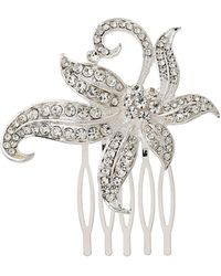 Mikey - Large Flower With Leaves Hair Comb - Lyst