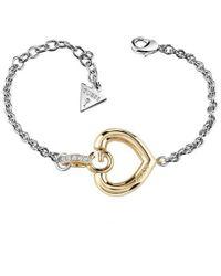 Guess   Gisèle Ubb83007-l G Heart Bracelet   Lyst