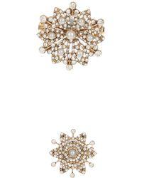 Accessorize - Miriam Pearl Flower Brooch - Lyst