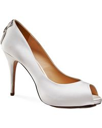Benjamin Adams London - Carley Peep Toe Platfrom Shoes - Lyst