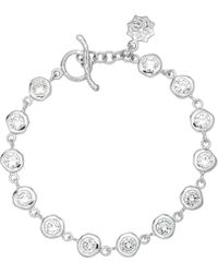 Dower & Hall - Dewdrop Silver White Topaz Bracelet - Lyst