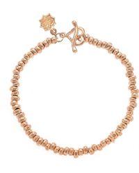 Dower & Hall - Nomad Rose Gold Nugget Bracelet - Lyst