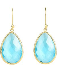 Latelita London | Drop Earring Gold Blue Topaz | Lyst