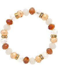 Monet - Crystal Bead Topaz Bracelet - Lyst