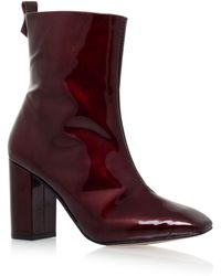 KG by Kurt Geiger - Kg By Kurt Geiger Strut Leather Heeled Ankle Boots - Lyst