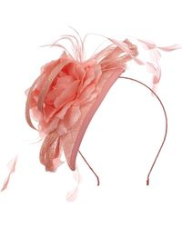Suzanne Bettley Teardrop Fascinator On Band With Flower - Multicolour