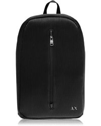Armani Exchange Leather Backpack - Black
