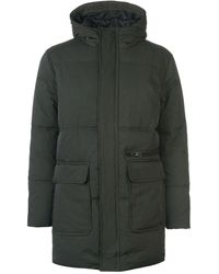 Label Lab Alpha Hooded Zip Through Puffa Coat - Green