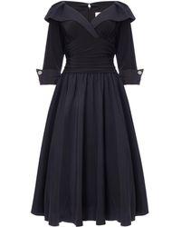 Eliza J - Cuff Sleeve V Neck Ruched Waist Dress - Lyst