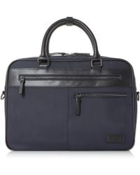 Dune Nebulous Nylon Utility Briefcase - Blue