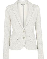 Whistles Slim Jersey Jacket - Grey