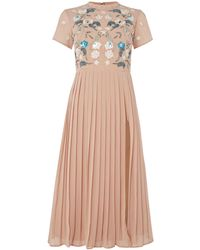 Frock and Frill - Short Sleeved High Neck Midi Dress - Lyst