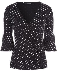 Jane Norman | Flared Sleeve Wrap Top | Lyst