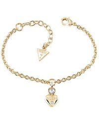 Guess | Y Little Heart Charm Bracelet | Lyst