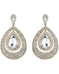 Mikey - Eclipse Crystal Twin Surround Earring - Lyst