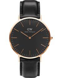Daniel Wellington - Classic Sheffield Rose Gold Watch - Lyst